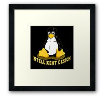 Linux Penguin Intelligent Design Framed Print