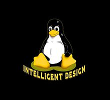 Linux Penguin Intelligent Design by Greenbaby