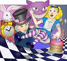 Alice Goes down the Rabbit Hole by DarkRubyMoon