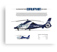 Eurocopter AS.365N3 Dauphin Helicopter - Victoria Police Air Wing Canvas Print