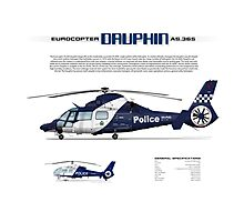 Eurocopter AS.365N3 Dauphin Helicopter - Victoria Police Air Wing Photographic Print