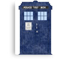 Doctor Who TARDIS - Cloudy 'I am Infinite' Canvas Print