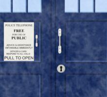 Doctor Who TARDIS - Cloudy 'I am Infinite' Sticker