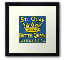 ST OLAF BUTTER QUEEN WITH CROWN Framed Print