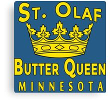 ST OLAF BUTTER QUEEN WITH CROWN Canvas Print