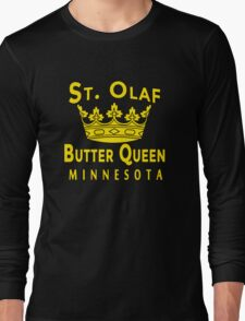 ST OLAF BUTTER QUEEN WITH CROWN Long Sleeve T-Shirt