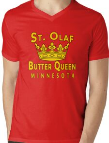 ST OLAF BUTTER QUEEN WITH CROWN Mens V-Neck T-Shirt