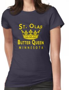 ST OLAF BUTTER QUEEN WITH CROWN Womens Fitted T-Shirt