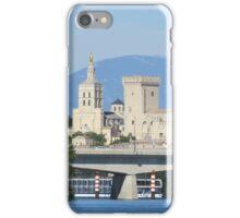 La Palais des Papes and Mt Ventoux iPhone Case/Skin