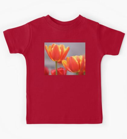 Orange Tulips Kids Tee