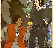 Wolfsbane Potion Label Art Nouveau Style by Keri Bas