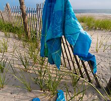 """Sandy Blues"" - flip flops at Cape May, New Jersey by John Hartung"