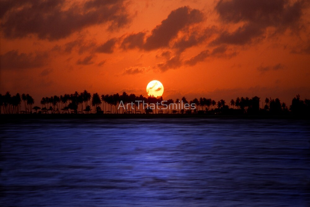 """Splendid Sunset"" - sunset in San Juan, Puerto Rico by John Hartung"