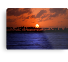 """Splendid Sunset"" - sunset in San Juan, Puerto Rico Metal Print"