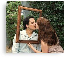 Cartoon Kisses! Canvas Print