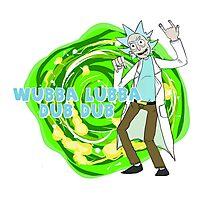 Rick and Morty- WUBBA LUBBA DUB DUB Photographic Print