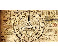Bill Cipher Wheel Photographic Print