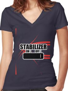 Stabilizer Women's Fitted V-Neck T-Shirt