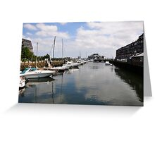 Boats in Boston Greeting Card