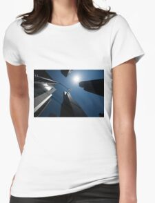 scyscrapers, Chicago loop, architecture Womens Fitted T-Shirt