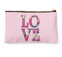 LOVE in Floral Font Studio Pouch