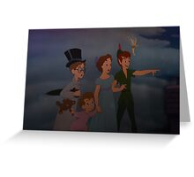 Disney Peter Pan Wendy John Disney Tinkerbell Micheal Greeting Card