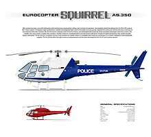Eurocopter AS.350 Squirrel Helicopter (A-Star, Ecureuil) by JetRanger