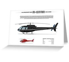 Eurocopter AS.350 A-Star Helicopter (Squirrel, Ecureuil) Greeting Card