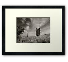 Broadway Tower Lith Effect Framed Print