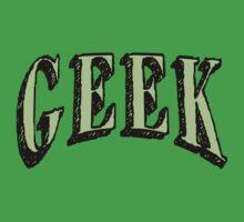 GEEK in Green T-Shirt