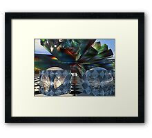 Bent and colored Tessellations Framed Print