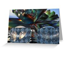 Bent and colored Tessellations Greeting Card