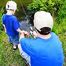 Father and Son Fishing by MikeJagendorf