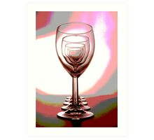 The Wineglasses 1 Art Print