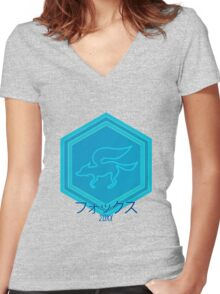 20XX Women's Fitted V-Neck T-Shirt