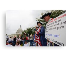 Washington Tea Party Rally Canvas Print