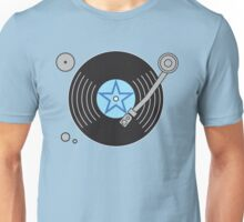 Groovy Blue Record Player Unisex T-Shirt