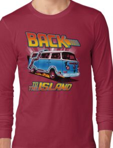 Back to the Island Lost And Back to the Future Spoof Long Sleeve T-Shirt