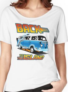 Back to the Island Lost And Back to the Future Spoof Women's Relaxed Fit T-Shirt