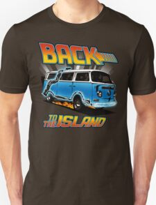 Back to the Island Lost And Back to the Future Spoof T-Shirt
