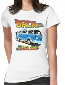 Back to the Island Lost And Back to the Future Spoof Womens Fitted T-Shirt