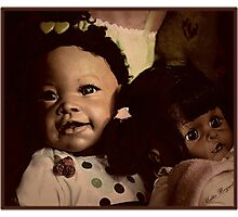 Doll Duo Photographic Print