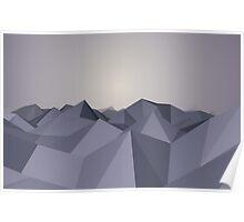 Polygon mountains Poster