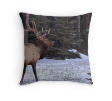 Big Elk Throw Pillow
