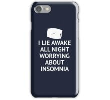 Worrying About Insomnia iPhone Case/Skin