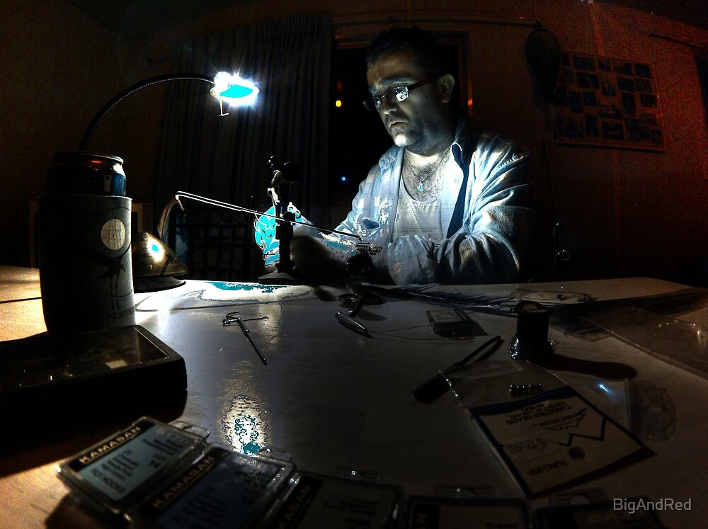 Mad scientist hard at work by BigAndRed