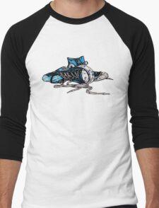 Blue Chucks Men's Baseball ¾ T-Shirt