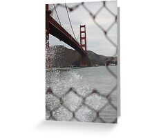 The 'Bridge is framed Greeting Card