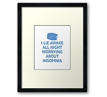 Worrying About Insomnia Framed Print