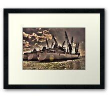 Ships Out To Sea Framed Print